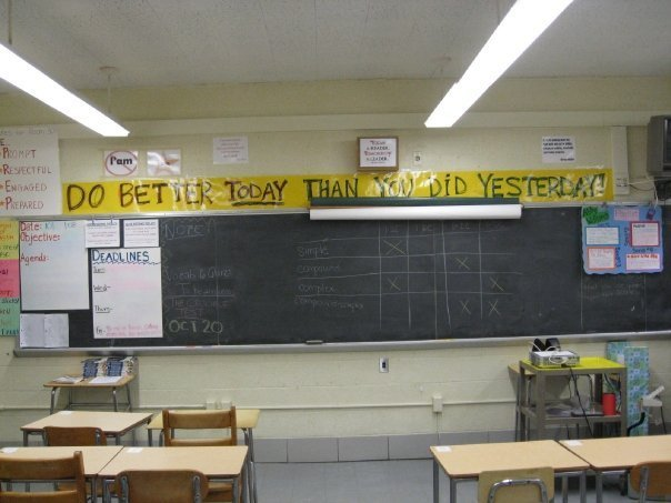 Guldin-Noll's classroom in Baltimore, 2008-2009.