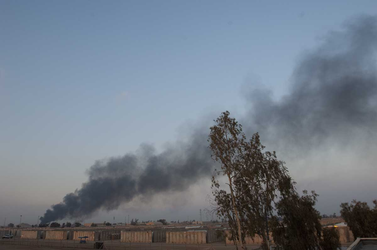Burn pit in Balad. Photo courtesy of Dan Clare
