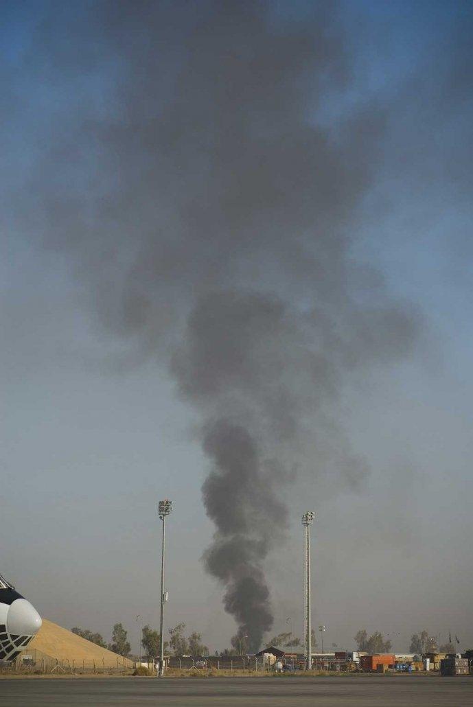 Burn pit in Balad, Iraq. Photo courtesy of Dan Clare