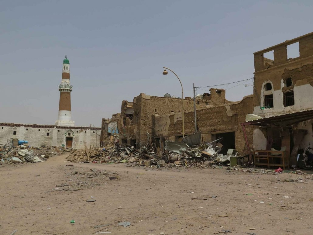 An airstrike took place on this market in front of the Imam al-Hadi mosque, Sa'da City, Yemen. May 9, 2015. Photo Courtesy Amnesty International