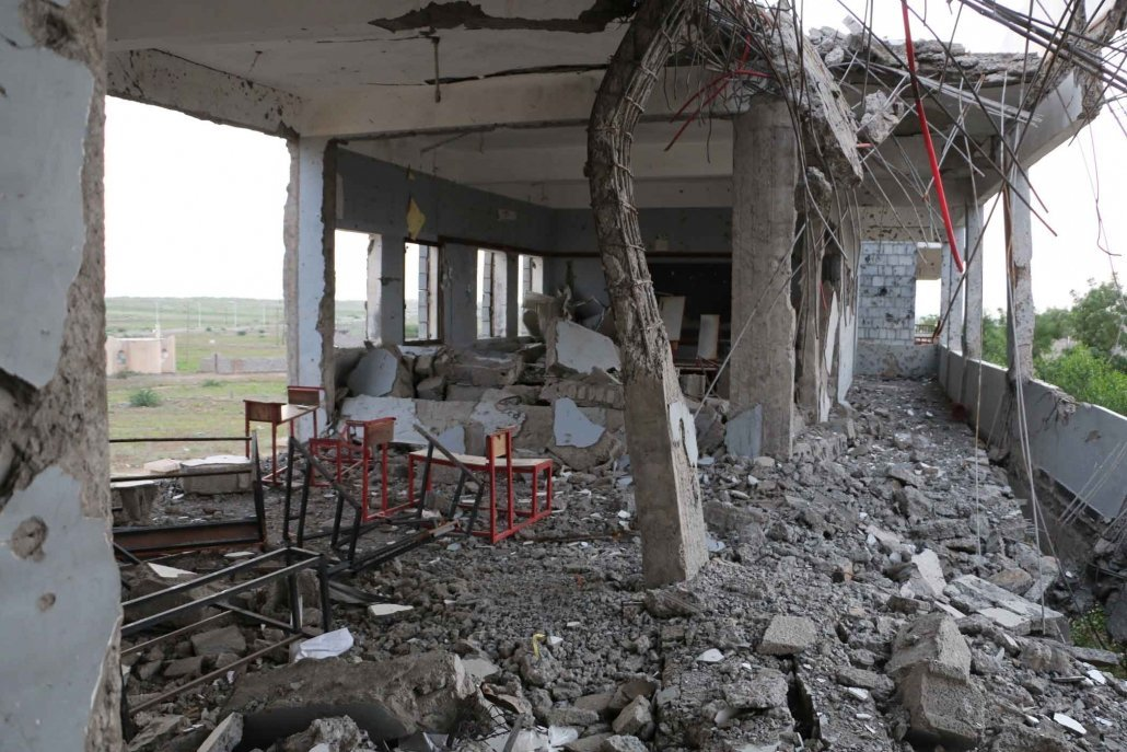 The al-Asma School in Hodeidah, Yemen, after it was attacked by the Saudi Arabia-led coalition. November 8, 2015. Photo Courtesy Amnesty International