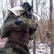 The author on a field exercise at The Basic School at Quantico, Virginia in 2006. Courtesy of Anne Boaden