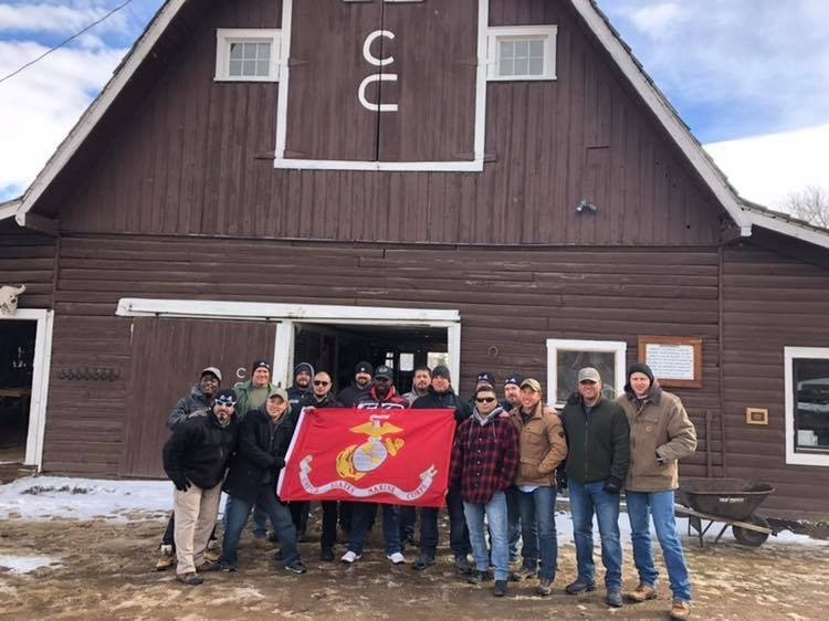3rd Battalion, 1st Marines at their 15-year reunion in at C Lazy U Ranch in Colorado in 2018. Courtesy Josiah Koleosho.