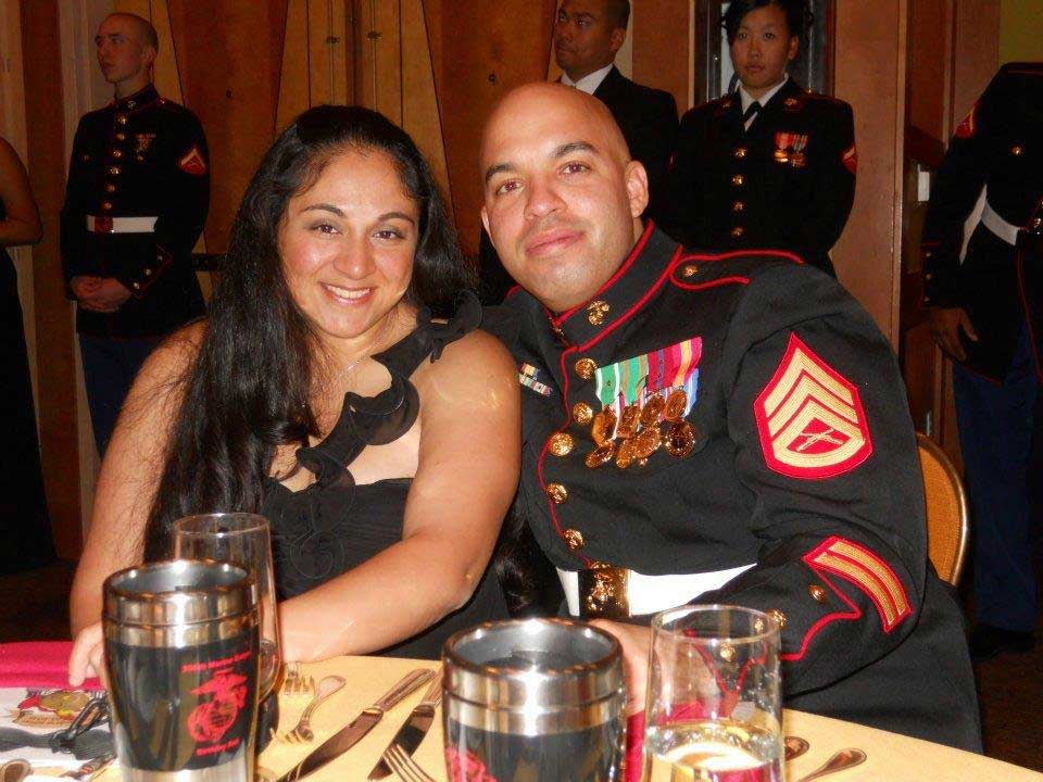 Heidi and her husband, Luis Agostini, a fellow combat correspondent, at the Marine Corps Birthday Ball in 2011. Photo courtesy of Heidi Agostini