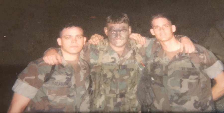 Johnnie Gilpen and fellow Corpsmen of the 2nd Battalion, 8th Marines, 2nd Marine Division, 1997. Photo courtesy of Johnnie Gilpen