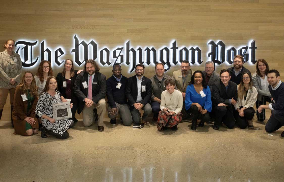 The War Horse Writing Seminar Fellows visit The Washington Post newsroom