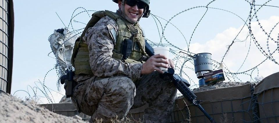Navy LT Stephen Thompson, the author's son, in Afghanistan, 2013. Photo courtesy Sarah Colby