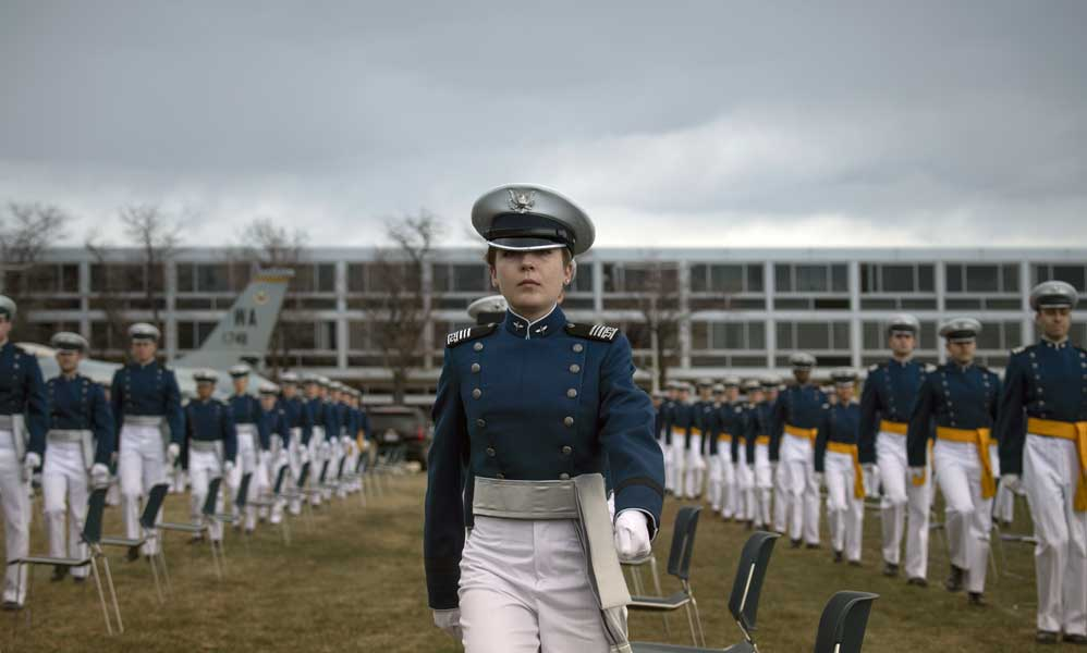 86 cadets among the U.S. Air Force Academy graduating class of 2020 were commissioned directly into the Space Force on April 18. Photo by Staff Sgt. Dennis Hoffman, courtesy of U.S. Air Force