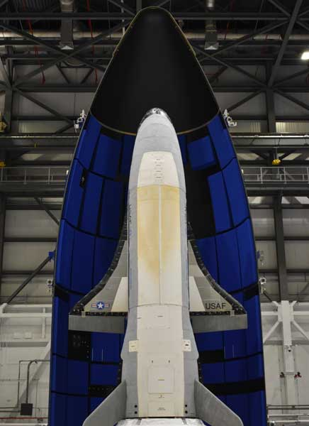 Formerly shrouded in secrecy, basic details about the Spaceplane X-37B, which launched from Florida in May, are now being openly shared by the Space Force as part of its deterrence strategy. Photo courtesy of Boeing