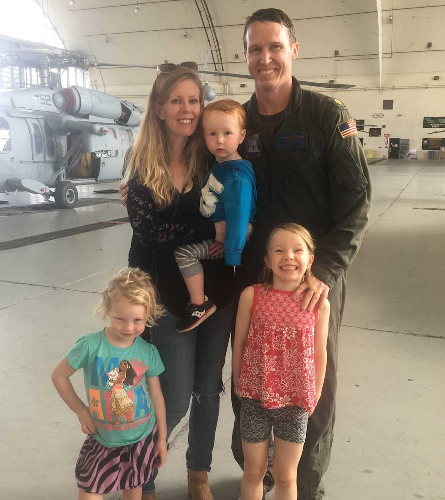 The author and her family said goodbye to their military family in San Diego before relocating to Monterey, CA, in December 2018. Photo courtesy of Jennifer Barnhill
