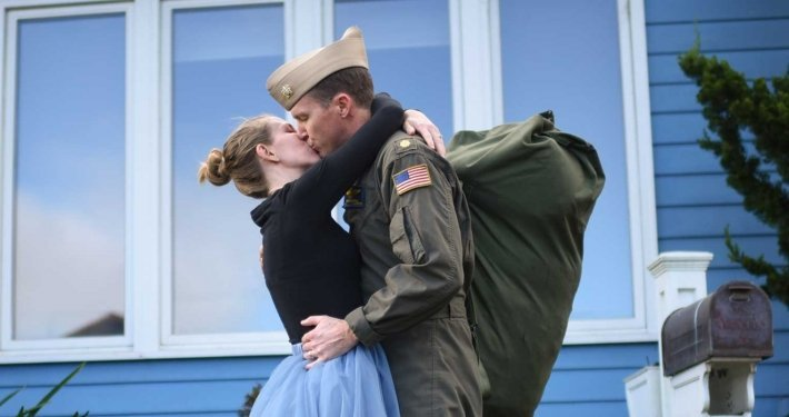 Barnhill said that sometimes military families look like pinups, but more often than not there is more to the story. She believes the entire family serves, not just the service member. Photo courtesy of Jean Jacobs.