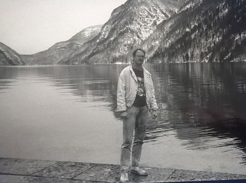 The author at the Königsee, a lake south of Berchtesgaden, 1991. Photo courtesy of Dave Boe