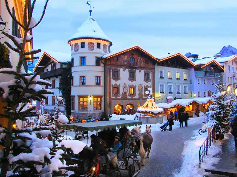 Berchtesgaden on a winter evening. Photo courtesy of Berchtesgaden Tourism