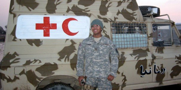 Michael E. Flores at Tallil Air Base, Iraq, in 2007. Photo courtesy of author.