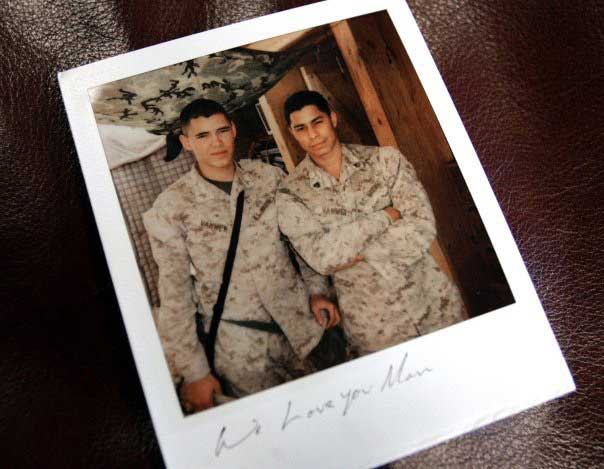 Roy and Andrew van Wey in Husaybah, Iraq. Photo courtesy of the author.