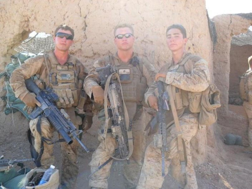 Brandon Alt, right, was one of at least six Marines and Navy corpsmen who deployed from Camp Pendleton, California, to Afghanistan in 2010 who later developed seizures or seizure-like episodes. Photo courtesy of Brandon Alt.