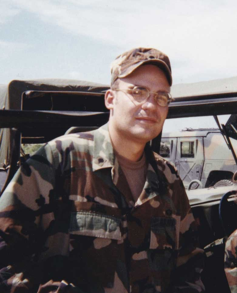 Benjamin Abel during field training at Fort Bragg, NC, in 1998. Photo courtesy of the author.