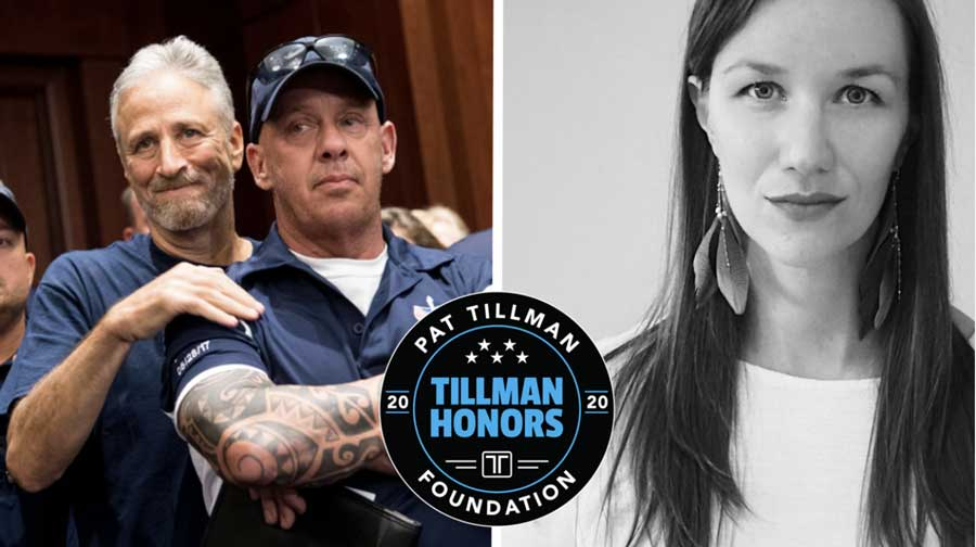 The Pat Tillman Foundation will honor Jon Stewart and John Feal Thursday for their work with first responders and burn pit veterans. War Horse author Jackie Munn will also be honored for her work as a public health nurse practitioner.