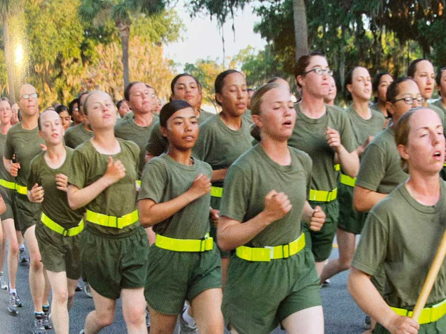 In 2013, Ohu traveled to Parris Island where she was assigned to Fourth Recruit Training Battalion. Courtesy of Pan Phyu.