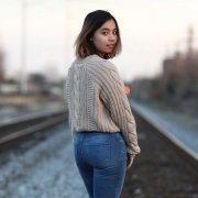 Thae Ohu stands on a railroad track during Dec. 2018. Courtesy of Michael Hinesley.Courtesy of Michael Hinesley.