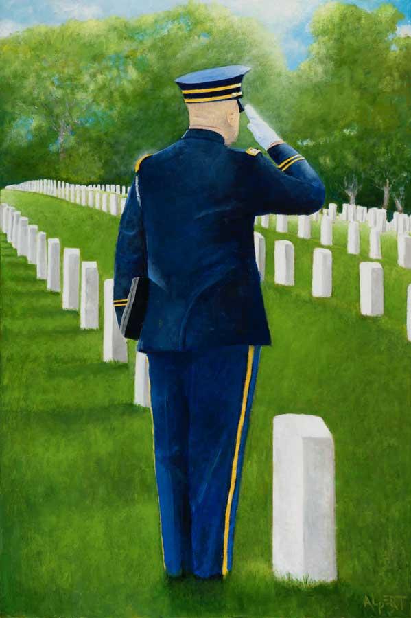 Final Salute Painting by Steve Alpert.