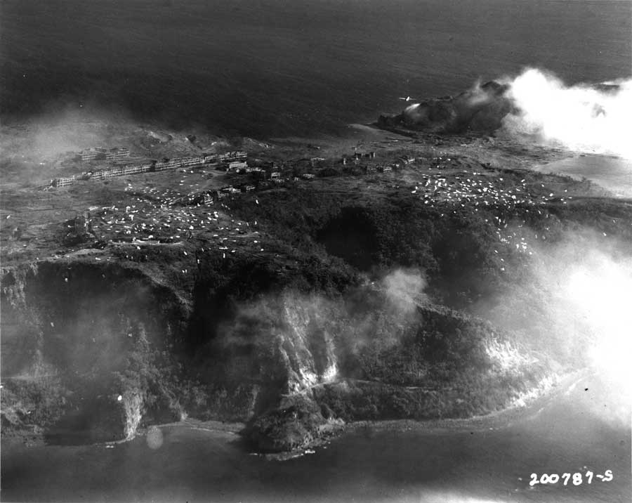 Pilots approach the island of Corregidor as a battle rages beneath during World War II. Photo courtesy of the author.