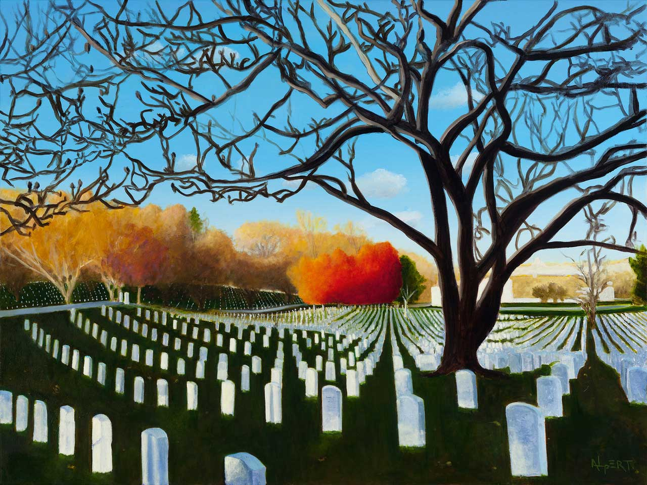 Fields of Honor painting by Steve Alpert.