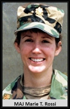 Maj. Marie Therese Rossi-Cayton was the first woman to serve as an aviation unit commander in combat. She died in a Chinook accident March 1, 1991, in Saudi Arabia.
