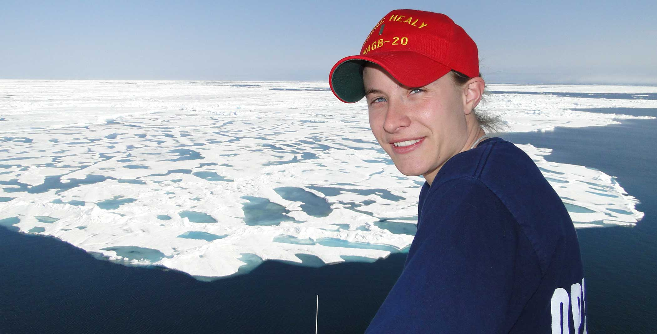 Sonner Kehrt on Healy's flying bridge, far above the Arctic Circle. Photo courtesy of author.