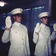 Lee Herron, left, and David Nelson are commissioned as second lieutenants on June 7, 1967, after graduating from Texas Tech University. Photo courtesy of the author.