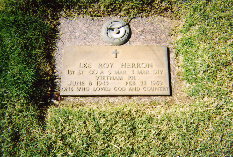 A photo David Nelson took of his friend's grave during a visit with Lee Roy Herron's mother. Photo courtesy of the author.