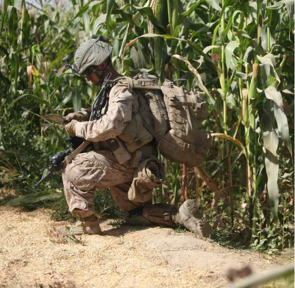First Lt. Yoshida on patrol in Sangin, Afghanistan, in September 2010. Photo courtesy of the author.