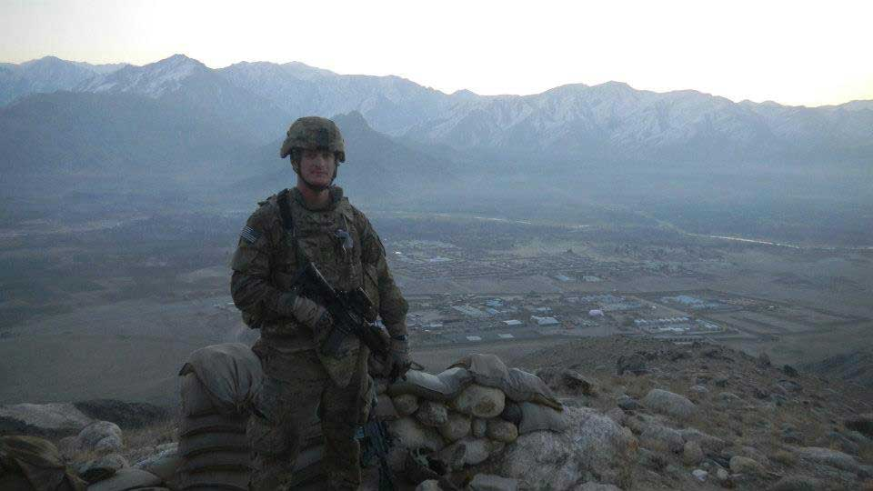 The author stands guard in Afghanistan. Photo courtesy of author.