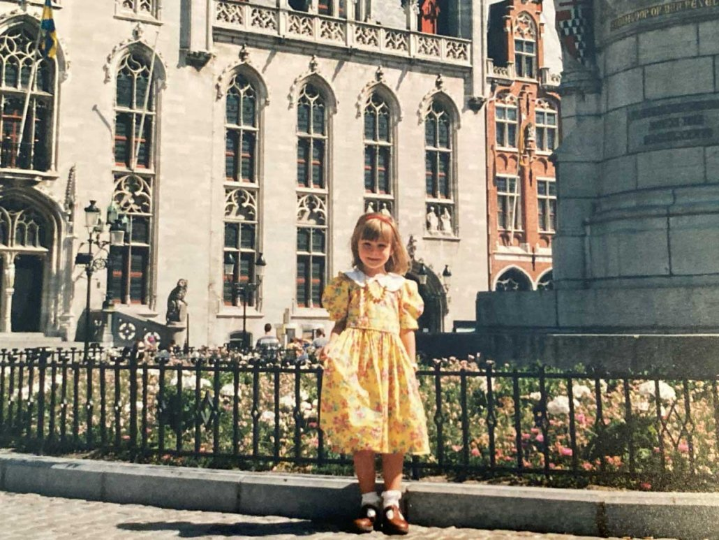 A Military Child Learns What It Means to Be an American. By Leaving - The author in Bruges, Belgium, while her father served in the military.