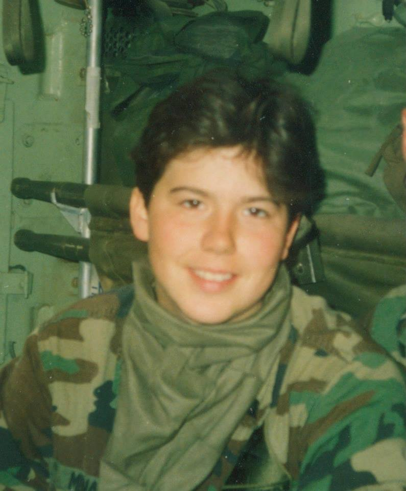 Angela Menard served as a medic with the 2nd Armored Division during Operation Desert Storm. Photo courtesy of Angela Menard.