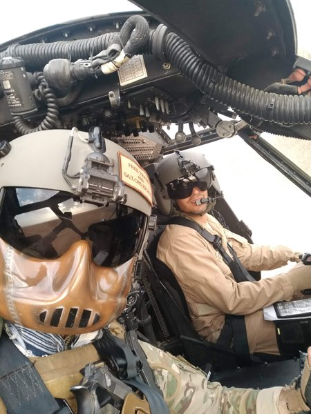 Jack McCain and his Afghan copilot, Capt. J., head for Kandahar in 2019. Photo courtesy of the author.