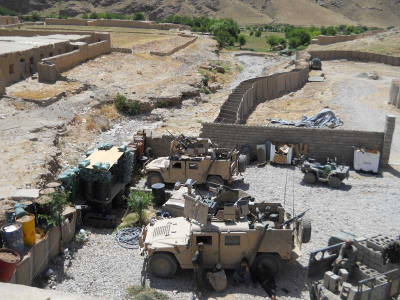 The view from inside a Special Operations camp supporting Village Stability Operations in Uruzgan, Afghanistan. Photo courtesy of the author.