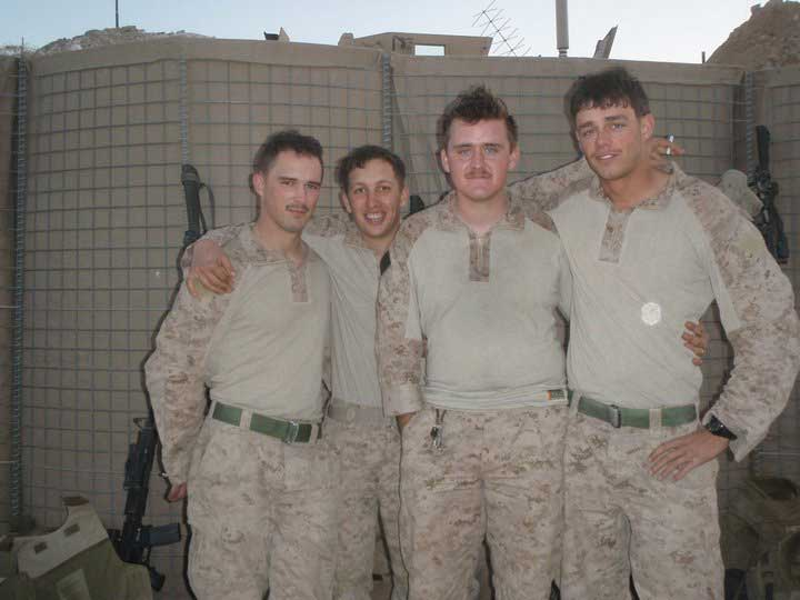 Brett Foley, left, with his team in Afghanistan. Photo courtesy of the author.