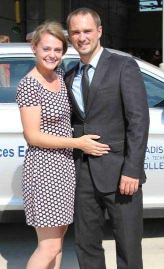 Brett and Whitney Foley after Brett's police academy graduation. Photo courtesy of the author.
