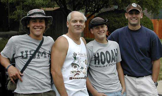 Joel Cuthbertson gathers in Gunnison, Colorado, with his father and brothers.