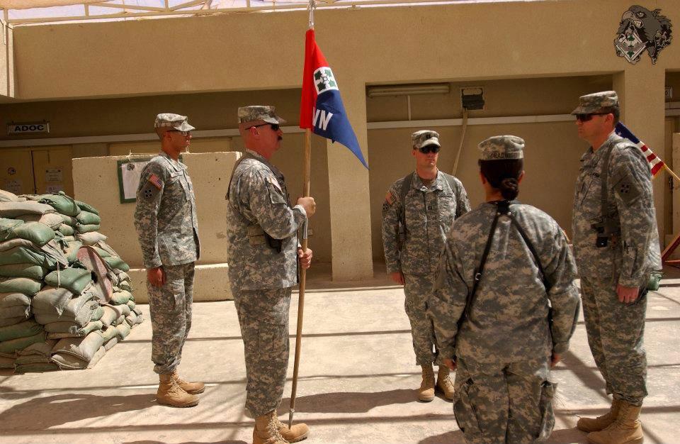 Michelle Gradnigo's change-of-command ceremony at Camp Taji, Iraq.
