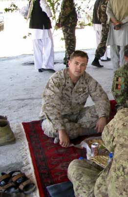 Russell Worth Parker at a Shura in Afghanistan