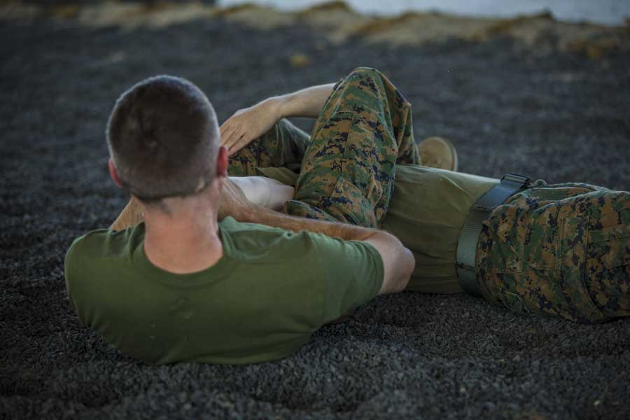 U.S. Marines practice Marine Corps Martial Arts Program techniques. Photo by Lance Cpl. Hall, courtesy of U.S. Marine Corps.