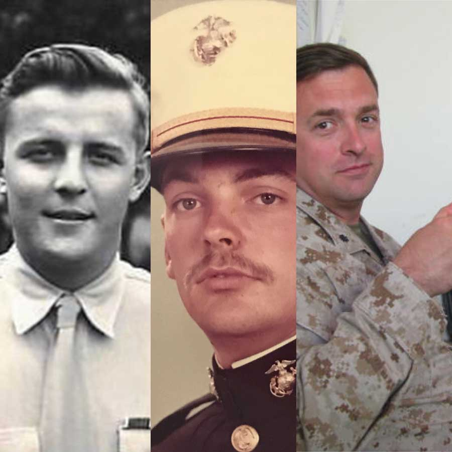Russell Worth Parker, his father, and his grandfather all served in the U.S. Marine Corps.