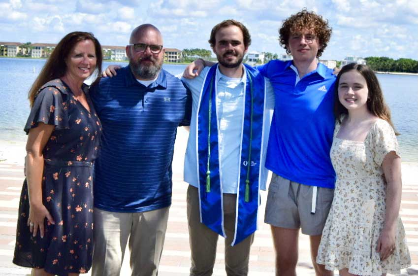 Eric Tangeman and his family at his oldest son's college graduation in August. Photo courtesy of the author.