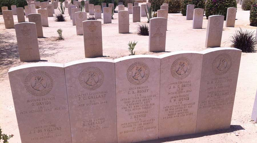 Soldiers who died together in Egypt during World War II fighting in North Africa in what is seen as one of the most decisive battles of the war. Photo courtesy of the author.